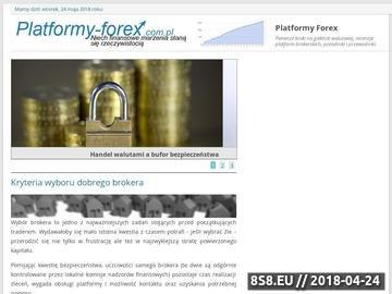 Zrzut strony Blog Platforma Forex