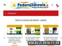 Miniaturka domeny www.podarujzdrowie.pl
