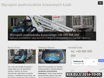 Zrzut strony Wynajem podnośników koszowych w Łodzi, usługi podnośnikiem