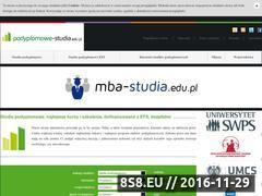 Miniaturka domeny www.podyplomowe-studia.edu.pl