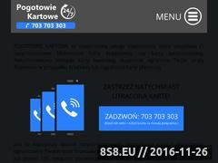 Miniaturka domeny www.pogotowiekartowe.pl