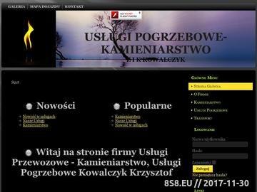 Zrzut strony Usługi pogrzebowe i kamieniarskie Z I K KOWALCZYK usługi grabarskie
