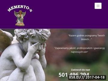 Zrzut strony MEMENTO-U sprzedaż urn