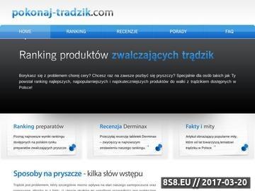 Zrzut strony Pokonaj-tradzik.com - leki na trądzik