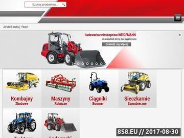 Zrzut strony Maszyny rolnicze New Holland
