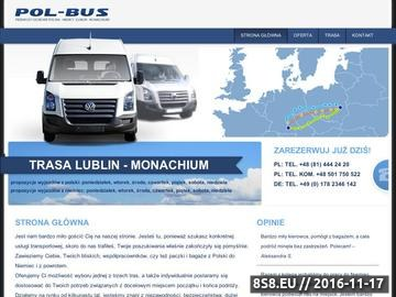 Zrzut strony Busy Polska Niemcy