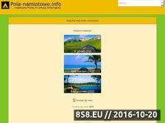 Miniaturka domeny www.pola-namiotowe.info