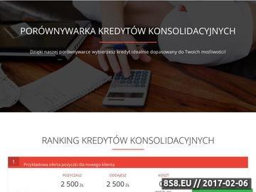 Zrzut strony Kredyty konsolidacyjne online