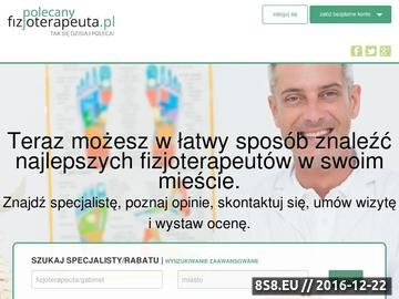 Zrzut strony Katalog Fizjoterapeutów