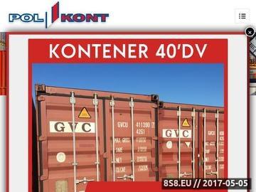 Zrzut strony Polkont Spółka z o.o. - kontenery socjalne