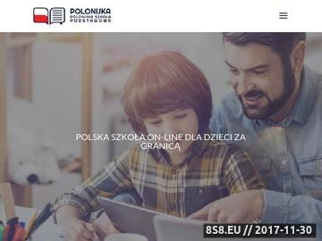 Zrzut strony Edukacja dla Polonii - Polonijka
