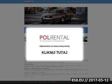 Zrzut strony Polrental wynajem samochodów