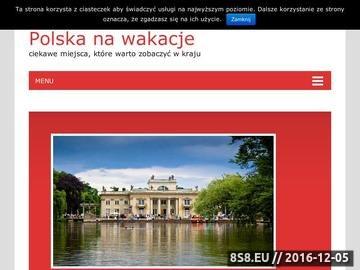 Zrzut strony Polska na wakacje - subiektywny wybór miejsc