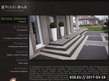Zrzut strony Polski Bruk oferuje układanie kostki brukowej w Łodzi i okolicy