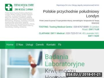 Zrzut strony Polski stomatolog ortodonta Londyn