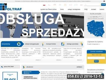 Zrzut strony Poltraf oferuje transort leków i farmaceutyków