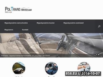 Zrzut strony Wynajem samochodów Śląsk - PolTrans
