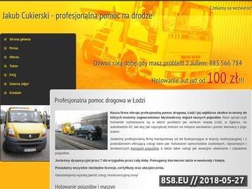 Zrzut strony Cukierski - holowanie Łódź