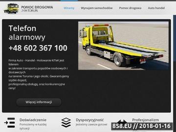 Zrzut strony Auto-laweta Toruń