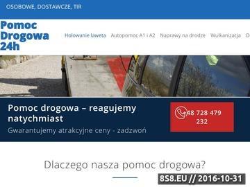 Zrzut strony Pomoc Drogowa SOS