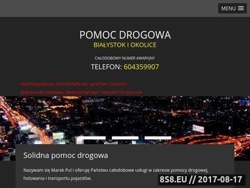 Zrzut strony Pomoc drogowa Białystok