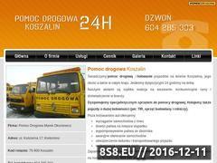 Miniaturka domeny www.pomocdrogowa.i-koszalin.pl