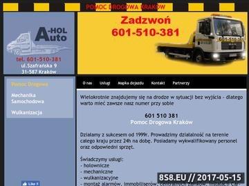 Zrzut strony Pomoc Drogowa Kraków 24h Auto-Hol 601 510 381 Luberda