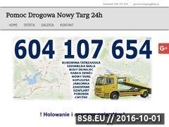 Miniaturka domeny www.pomocdrogowanowytarg.pl