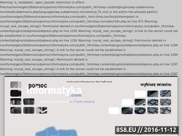 Zrzut strony Pomoc informatyka - Lublin, Świdnik i okolice - dla osób prywatnych i firm