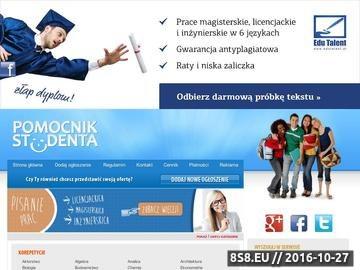 Zrzut strony Pisanie prac - ogłoszenia: prac licencjackich, prac magisterskich