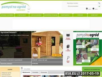 Zrzut strony Pomysł na ogród - portal ogrodowy