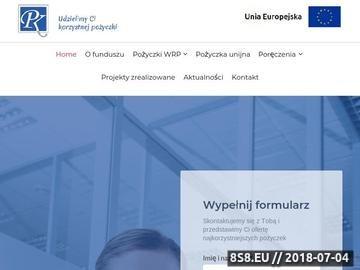Zrzut strony Pożyczki unijne dla firm