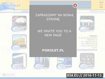 Zrzut strony POROLET - żaluzje
