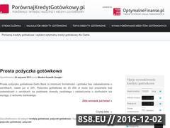 Miniaturka domeny www.porownajkredytgotowkowy.pl