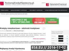 Miniaturka domeny www.porownajkredythipoteczny.pl