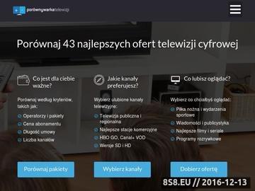 Zrzut strony Porównywarka TV - PorównywarkaTelewizji.pl
