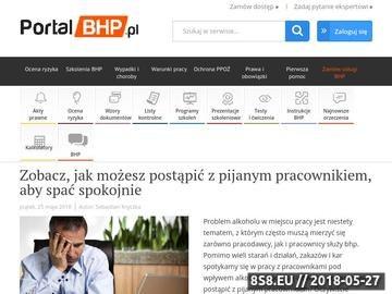Zrzut strony Portal BHP - Przepisy i BHP Pracy