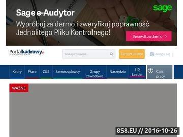 Zrzut strony Portal Kadrowy - Kadry, Płace, ZUS