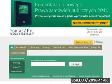 Zrzut strony Portal zamówień publicznych