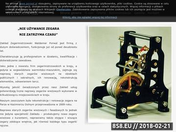 Zrzut strony Porwal - renowacja zegarów