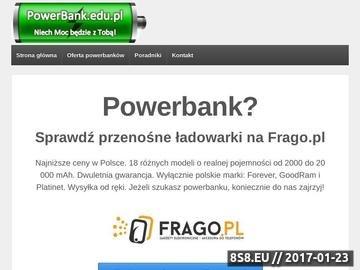 Zrzut strony PowerBank.edu.pl - bateria zewnętrzna FOREVER
