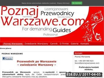 Zrzut strony Poznaj Warszawę