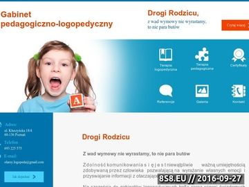 Zrzut strony Logopeda Poznań