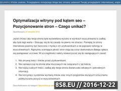 Miniaturka domeny pozycjonowanie-optymalizacja.com.pl