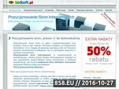 Miniaturka domeny www.pozycjonowanie.bbsoft.pl