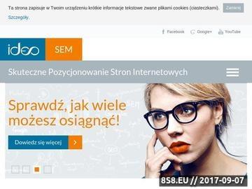 Zrzut strony Pozycjonowanie Ideo