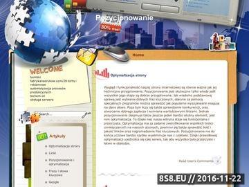 Zrzut strony Pozycjonowanie Firm i Produktów w Internecie