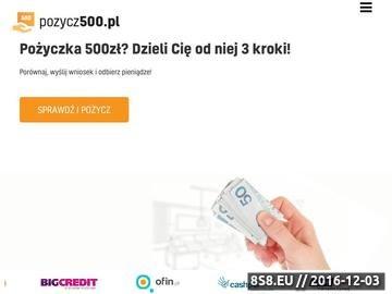 Zrzut strony Pożycz500.pl