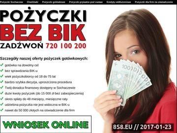 Zrzut strony Pożyczki Sochaczew