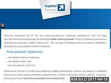 Zrzut strony Pożyczki hipoteczne